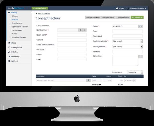 Webfactuur Online factuurprogramma